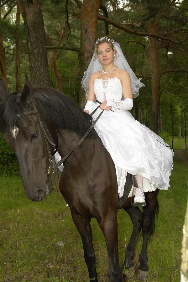 невеста на лошади фото