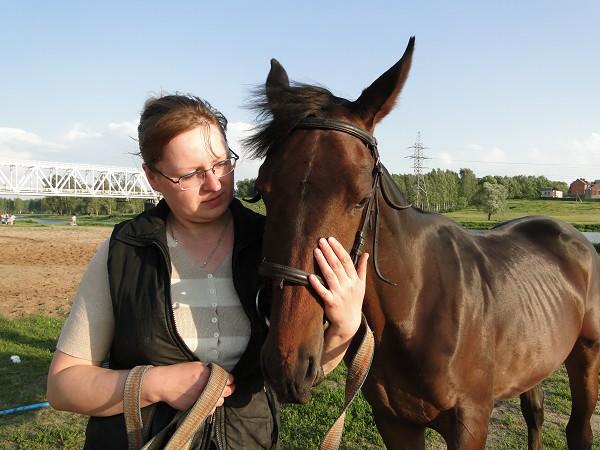 Лошади - Волна. На поле
