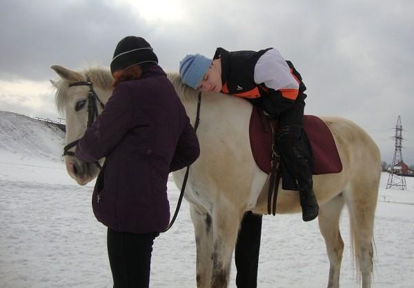 Иппотерапия и лечебная верховая езда (ЛВЕ) - Занятие с Мишой