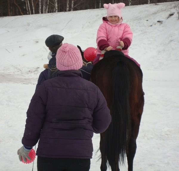 Иппотерапия и лечебная верховая езда (ЛВЕ) - Иппотерапия. С мячиками
