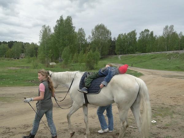 Иппотерапия и лечебная верховая езда (ЛВЕ) - Занятие по иппотерапии