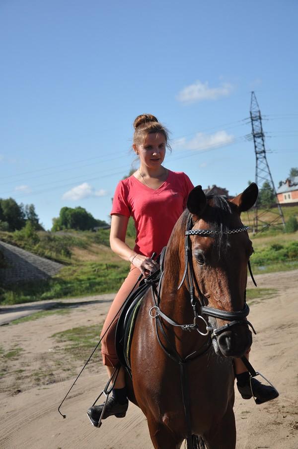 Верховая езда / Конный спорт - Ольга на Паше