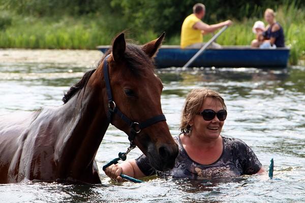 Верховая езда / Конный спорт - Ирина и Аристократ. Июль 2018.