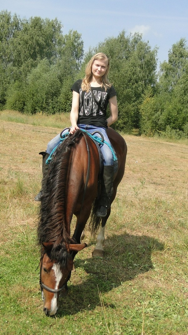 Иппотерапия и лечебная верховая езда (ЛВЕ) - После тренировки можно попастись....
