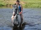 Лошади - Купание. Ольга на Нике