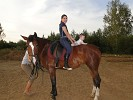 Иппотерапия и лечебная верховая езда (ЛВЕ) - Иппотерапия. Анжела с Эрикой
