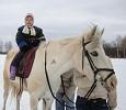 Иппотерапия и лечебная верховая езда (ЛВЕ) - Иппотерапия. Лиза на Нике (март 2011)
