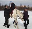 Иппотерапия и лечебная верховая езда (ЛВЕ) - Занятие с Мишей. Спиной к движению