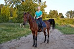 Верховая езда / Конный спорт - Людмила на Паше
