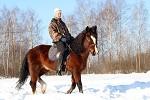 Верховая езда / Конный спорт - Январь 2018. Сергей и Хохма