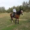 Иппотерапия и лечебная верховая езда (ЛВЕ) - Лиза осваивает управление лошадью