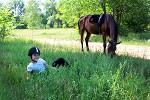 Верховая езда / Конный спорт - Июнь 2019. Женя и Паша