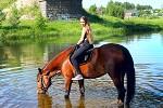 Верховая езда / Конный спорт - Алиса и Хохма. Водопой
