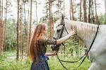 Фотосессия с лошадьми - Марина с Никой