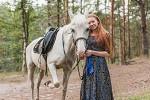 Фотосессия с лошадьми - Марина с любимой Никой