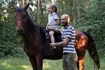 Фотосессия с лошадьми - Настя с папой и Водопад